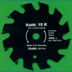 kwb Bauholzblatt Typ K Hartmetall Grobzahn antihaftbeschichtet – Ø 127 mm (5''), Bohrung 12,75 mm (1/2'')