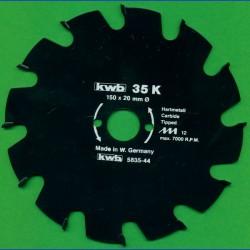 kwb Bauholzblatt Typ K Hartmetall Grobzahn antihaftbeschichtet – Ø 150 mm, Bohrung 20 mm