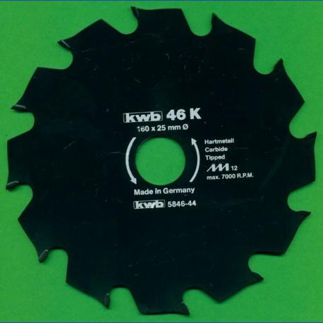 kwb Bauholzblatt Typ K Hartmetall Grobzahn antihaftbeschichtet – Ø 160 mm, Bohrung 25 mm