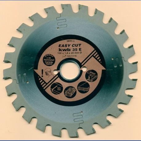 kwb EASY CUT Allzweckblatt Typ E – Ø 150 mm, Bohrung 20 mm