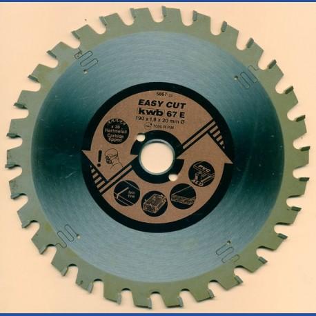 kwb EASY CUT Allzweckblatt Typ E plus – Ø 190 mm, Bohrung 20 mm