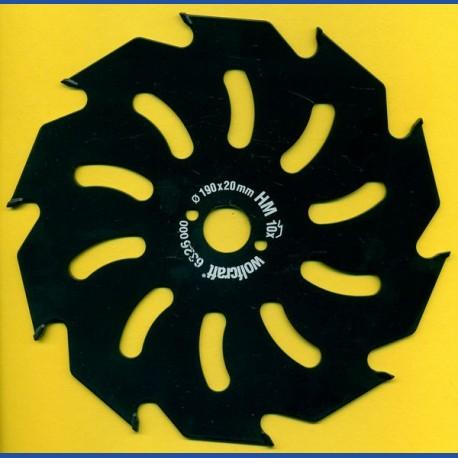 wolfcraft Serie gelb Handkreissägeblatt HM Grobzahn antihaftbeschichtet, Ø 190 mm, Bohrung 20 mm