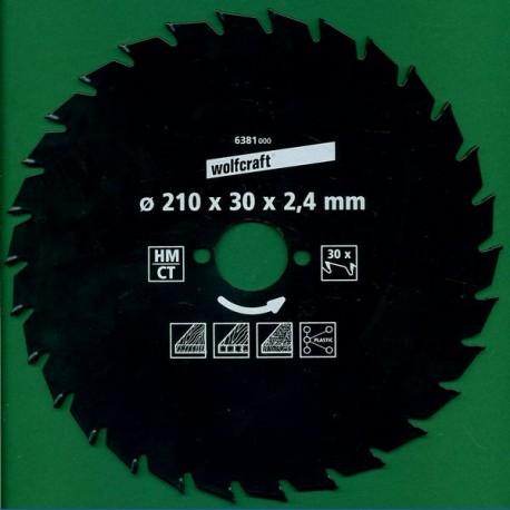 wolfcraft Serie grün Handkreissägeblatt HM Wechselzahn antihaftbeschichtet, Ø 130 mm, Bohrung 16 mm