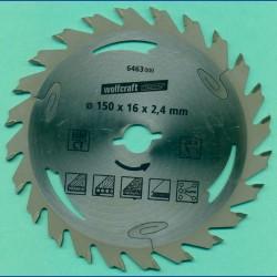 wolfcraft WIZARD Serie silber Handkreissägeblatt HM Flach-Hohlzahn, Ø 127 mm 5'', Bohrung 12,75 mm (1/2'')