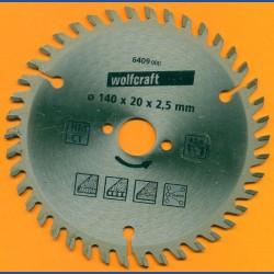 wolfcraft Serie orange Handkreissägeblatt HM Viel-Wechselzahn, Ø 140 mm, Bohrung 20 mm