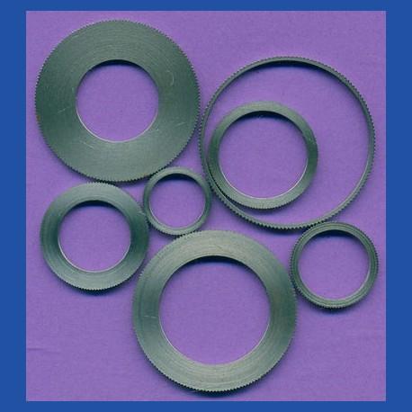 rictools Präzisions-Reduzierring gerändelt dünn – 24 mm / 18 mm, Stärke 1,2 mm