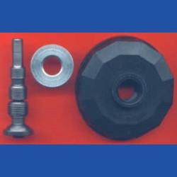 Kaindl Flexible Stahl-Welle mit Befestigungs-Haube und Rändelmutter
