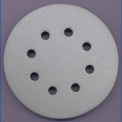 rictools Moosgummi-Pad für Stützteller mit Klett – Ø 125 mm 8-fach gelocht