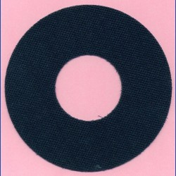rictools Selbstklebender Klettbelag Ø 125 mm – Aussparung Ø 55 mm