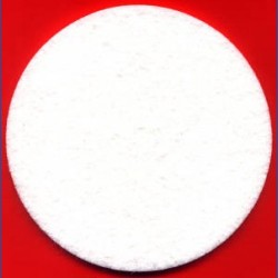 rictools Haft-Polierfilz Profi hart Ø 130 mm – für Ø 115 und 125 mm