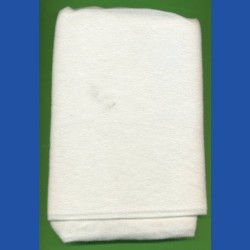 rictools Schleifscheibenvelours-Stoff – 80 g/qm, weiß, rechteckig in gewünschter Größe