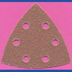 Kaindl Delta-Schleifscheiben KO – 93 mm 6-fach gelocht, K40 sehr grob