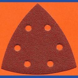 rictools Delta-Schleifscheiben KO – 93 mm 6-fach gelocht, K80 grob