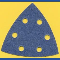 Kaindl Delta-Schleifscheiben KO – 93 mm 6-fach gelocht, K100 mittelgrob