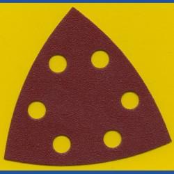 MIRKA Delta-Schleifscheiben HL – 93 mm 6-fach gelocht, K120 mittelgrob