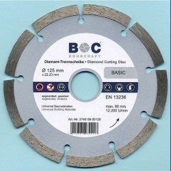 BOHRCRAFT Diamant-Trennscheibe BASIC Ø 125 mm