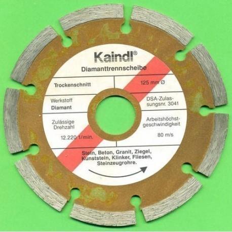 Kaindl Hochleistungs-Diamant-Trennscheibe für Einhand-Winkelschleifer Ø 125 mm