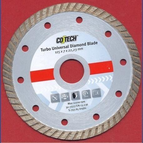 Diamant Trennscheibe Ø125 mm Bohrung 22,2 mm Typ Turbo-Universal