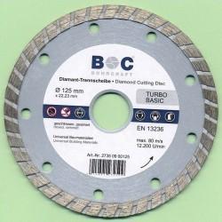BOHRCRAFT Diamant-Trennscheibe TURBO BASIC Ø 125 mm