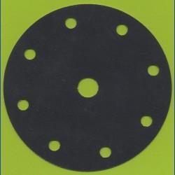 Hermes Haft-Schleifscheiben SC – Ø 150 mm 9-fach gelocht, K320 sehr fein