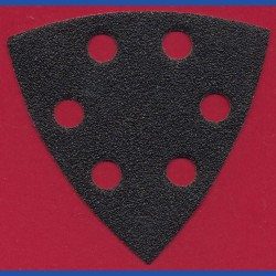 KLINGSPOR Delta-Schleifscheiben SC – 93 mm 6-fach gelocht, K60 grob