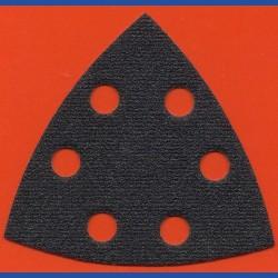 KLINGSPOR Delta-Schleifscheiben SC – 93 mm 6-fach gelocht, K80 grob