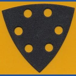 KLINGSPOR Delta-Schleifscheiben SC – 93 mm 6-fach gelocht, K100 mittelgrob