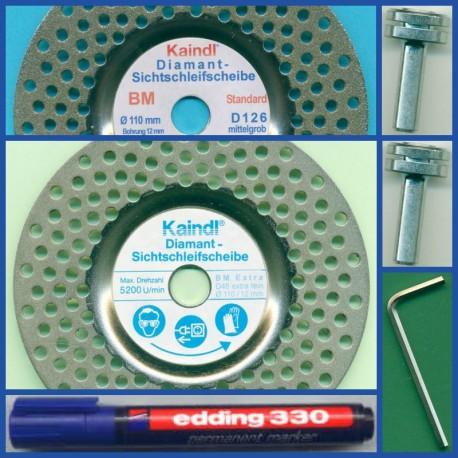 Kaindl Diamant-Sichtschleifscheiben BM Set – für die Bohrmaschine