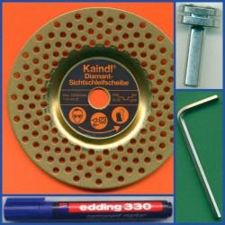 Kaindl Diamant-Sichtschleifscheibe TiN BM Kombi – für die Bohrmaschine