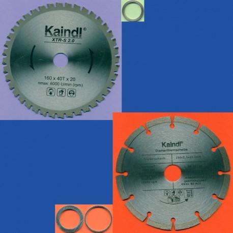Kaindl Universal-Säge-Set für Handkreissägen, Ø 160 mm