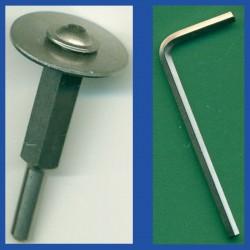 rictools Edelstahl-Adapter für Superdünne Diamant-Schleifscheibe Ø 6 mm / 6 mm-Schaft