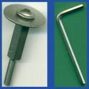 rictools Edelstahl-Adapter für Superdünne Diamant-Schleifscheibe – Ø 6 mm / 6 mm-Schaft