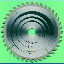 BOSCH Hartmetallbestücktes Kreissägeblatt Feinzahn, Ø 180 mm, Bohrung 20 mm