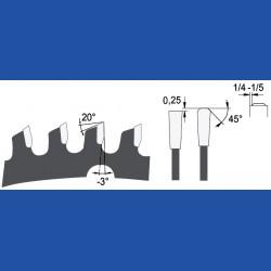 AKE blueline Sandwich-Kreissägeblatt HW, Ø 190 mm, Bohrung 20 mm