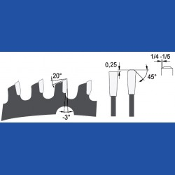 AKE blueline Sandwich-Kreissägeblatt HW, Ø 190 mm, Bohrung 30 mm