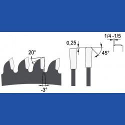 AKE blueline Aluminium-Kreissägeblatt HW negativ sehr fein, Ø 190 mm, Bohrung 20 mm