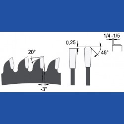 AKE blueline Aluminium-Kreissägeblatt HW negativ fein, Ø 216 mm, Bohrung 30 mm