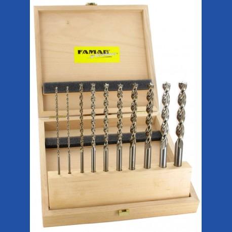FAMAG Holzspiralbohrer HSS-G lang Set