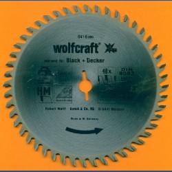 """wolfcraft Serie orange Handkreissägeblatt HM Viel-Wechselzahn, Ø 156,5 mm, Bohrung 12,75 mm (1/2"""")"""