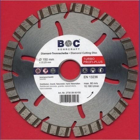 BOHRCRAFT Diamant-Trennscheibe TURBO PROFI-PLUS Ø 150 mm