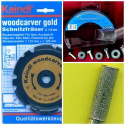 Kaindl woodcarver gold Set für 115 mm-Winkelschleifer