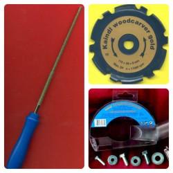 Kaindl woodcarver gold Profi-Set für 115 mm-Winkelschleifer