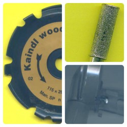 rictools woodcarver gold Set spezial für die meisten 125 mm-Winkelschleifer
