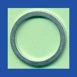 rictools Präzisions-Reduzierring gerändelt stark – 25 mm / 20 mm, Stärke 1,6 mm