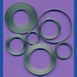 rictools Präzisions-Reduzierring gerändelt sehr dünn, 22,23 mm (7/8'') / 20 mm, Stärke 1,0 mm