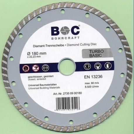 BOHRCRAFT Diamant-Trennscheibe TURBO BASIC Ø 180 mm
