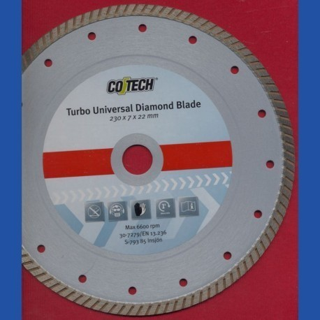 CO/TECH Diamant-Trennscheibe Turbo Universal Ø 230 mm
