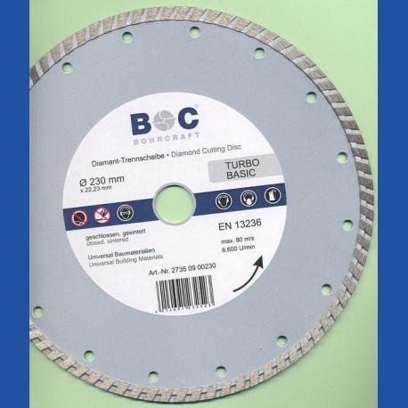 BOHRCRAFT Diamant-Trennscheibe TURBO BASIC Ø 230 mm