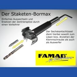 Staketen-Bormaxby FAMAGForstnerbohrer Hobby-Set