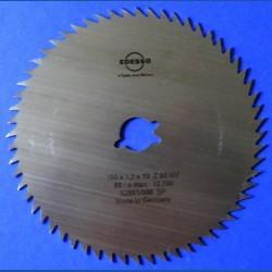 EDESSÖ Chrom-Vanadium-Kreissägeblatt B-NV Feinzahn blank – Ø 150 mm, Bohrung 19 mm (3/4'')
